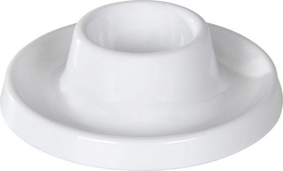 Eierbecher 4-teilig - Blau/Weiß, KONVENTIONELL, Kunststoff (11/3.2cm)