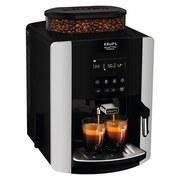 Kaffeevollautomat Arabica Display Quattro Force - Silberfarben/Schwarz, MODERN, Kunststoff/Metall (29/49/29cm) - Krups