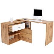 Schreibtisch Prag - Eichefarben, MODERN, Holzwerkstoff (138/74/120cm)