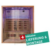 Infrarotkabine Bergen inkl. Lieferung & Montage - Naturfarben, MODERN, Holz (175/200/120cm)