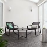 Balkonová Sada Mandy - černá, Moderní, kov/textilie - Modern Living