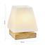 Lampa Stolní Holly - přírodní barvy, Moderní, dřevo/sklo (14/17,3cm) - Mömax modern living