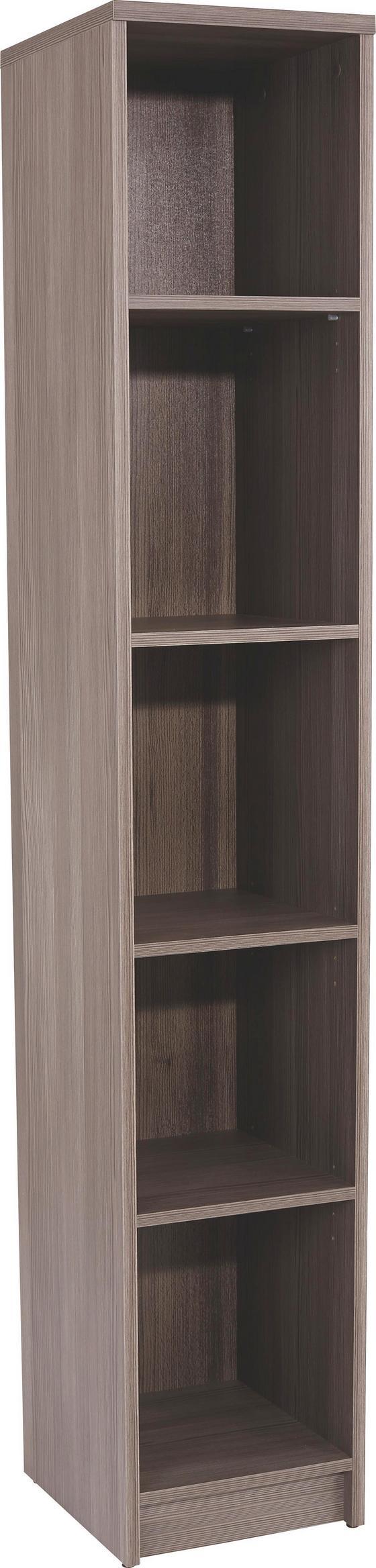Regál 4-you Yur06 - tmavě hnědá, Moderní, dřevěný materiál (30/189,5/34,6cm)