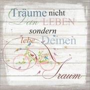Dekopaneel Träume Nicht Dein Leben - Multicolor, MODERN, Holzwerkstoff (29/29cm)