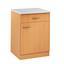 Küchenunterschrank Nano  B: 60 cm Buche Dekor - Buchefarben, MODERN, Holzwerkstoff (60/85/57cm)