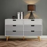 Komoda Daniela - bílá/šedá, Moderní, dřevo (110/65/38cm) - Modern Living