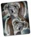 Kuscheldecke Koala - Grau, Textil (130/160cm)