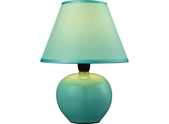Asztali Lámpa Cindy - Zöld, konvencionális, Kerámia/Textil (18/23cm) - Ombra