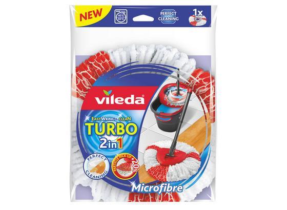 Potah Na Mop Easy Wring And Clean 2v1 - bílá/červená, Konvenční, textilie/umělá hmota