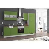 Küchenblock Turin 280cm Kiwi - Grün, LIFESTYLE, Holzwerkstoff (280cm) - Qcina