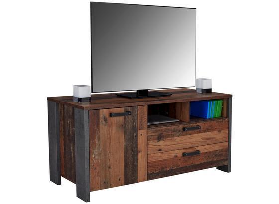 Tv Díl Clif - tmavě šedá, Moderní, kov/kompozitní dřevo (142/64/52cm)