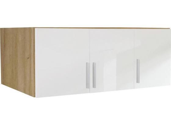 Aufsatzschrank zu Schrank Celle B:136cm Weiß Dekor - Eichefarben/Weiß, MODERN, Holz (136/40/54cm)