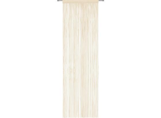 Nitkový Záves Victoria - krémová, textil (90/245cm) - Mömax modern living