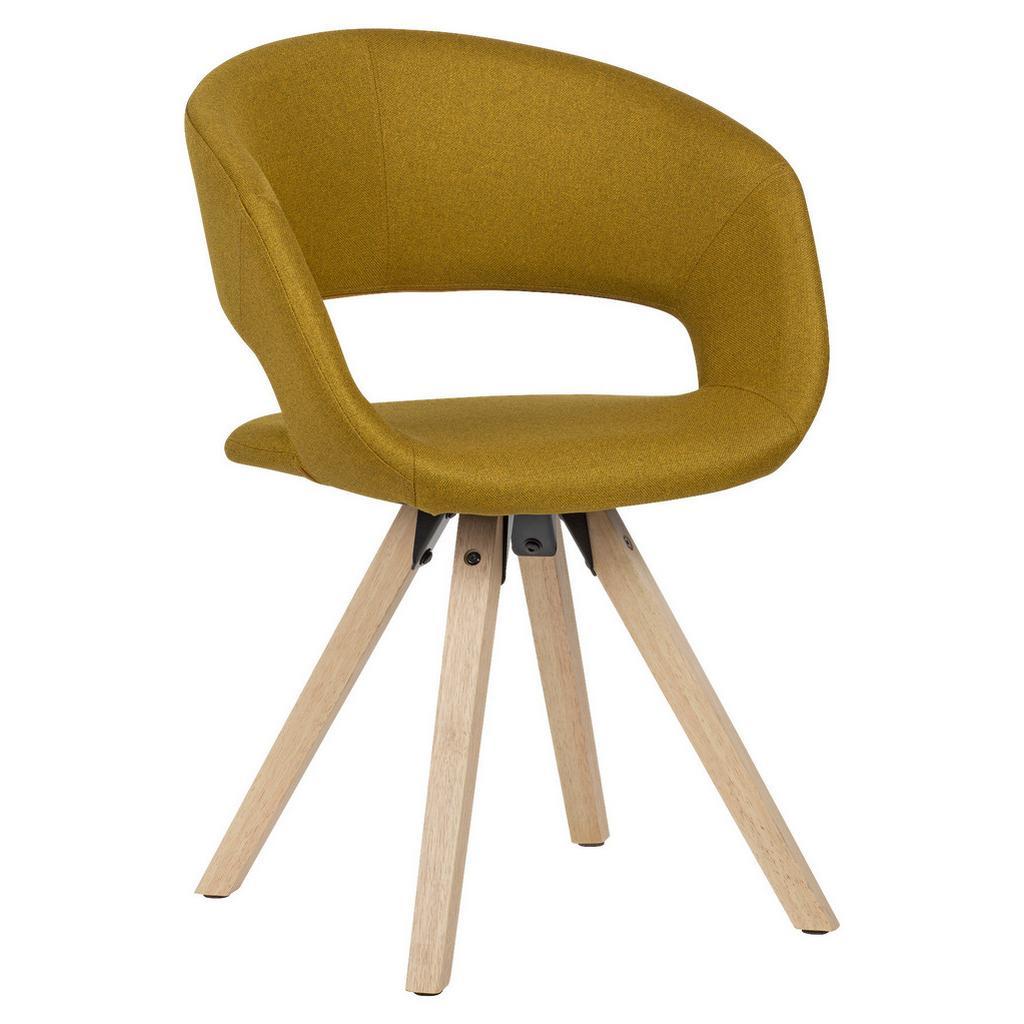 Židle s Opěrkou Hořčicová