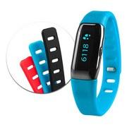 Fitnessarmband Mx 3 Tracker inkl. 3 Armbänder - Blau/Rot, MODERN, Kunststoff (2/1/21,5cm)