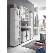 Waschbeckenunterschrank Edia B: 70,5 cm Weiß - Chromfarben/Weiß, MODERN, Holzwerkstoff (70,5/58,8/23,3cm) - MID.YOU