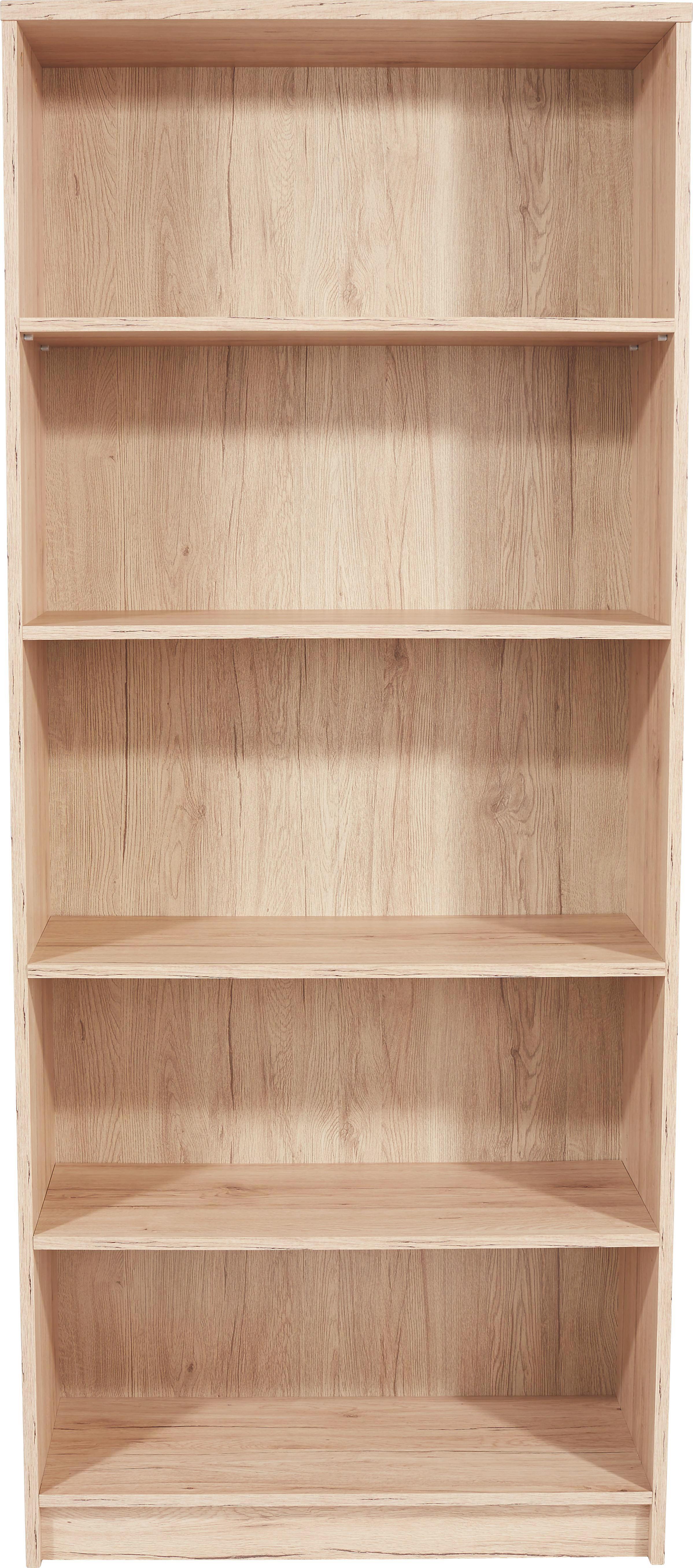 Regál 4-you Yur03 - barvy dubu, Moderní, dřevěný materiál (74/189,5/34,6cm)