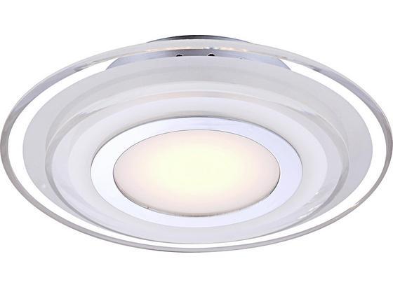 LED-Wandleuchte Lena - Chromfarben, MODERN, Glas/Metall (32/6,5cm)