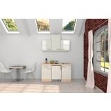 Küchenblock Abaco B: 150,5 cm Perlmutt - Perlmutt/Weiß, MODERN, Holzwerkstoff (150,5cm) - MID.YOU