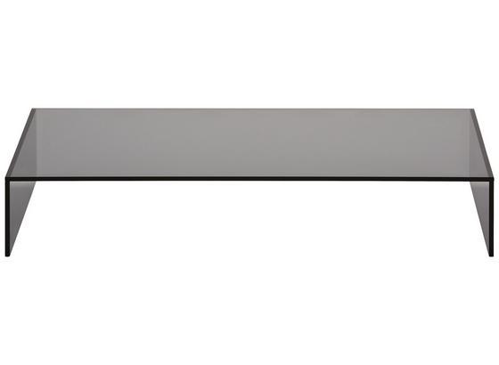 Tv Nástavec Universal 80cm - tmavě šedá, sklo (80/14/40cm) - Mömax modern living