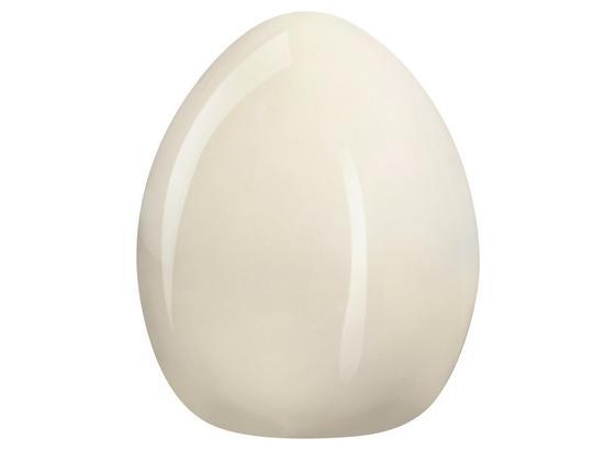 Vajíčko Dekorační Lina - krémová, Basics, keramika (8,6/11cm)