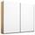 Schwebetürenschrank 226cm Belluno, Weiß/ Eiche Dekor - Weiß/Sonoma Eiche, MODERN, Holzwerkstoff (226/210/62cm)