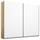 Schwebetürenschrank Belluno B:226cm Weiß/ Eiche Dekor - Weiß/Sonoma Eiche, MODERN, Holzwerkstoff (226/210/62cm)