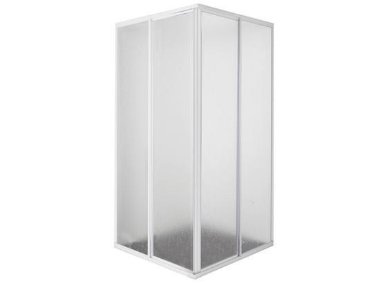 Eckeinstieg Acryl Weiß - Weiß, MODERN, Kunststoff (88/185/88cm)