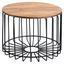 Couchtisch D: 60 cm Sheesham - Sheeshamfarben/Schwarz, Design, Holz/Metall (60/60/46cm) - Carryhome