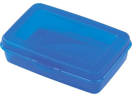 Jausenbox mittel - Blau/Transparent, KONVENTIONELL, Kunststoff (12.8/5/19cm)