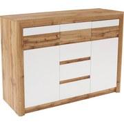 Komoda Kashmir New Kak01 - bílá/barvy dubu, Moderní, kompozitní dřevo (142/89/41cm) - James Wood