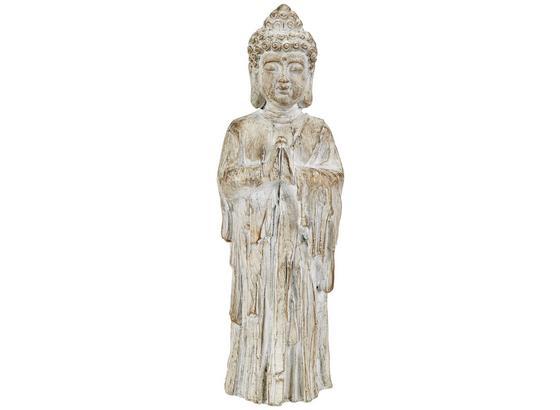 Buddha Alevtina - Goldfarben/Weiß, Basics, Kunststoff (14/13/46cm) - Luca Bessoni