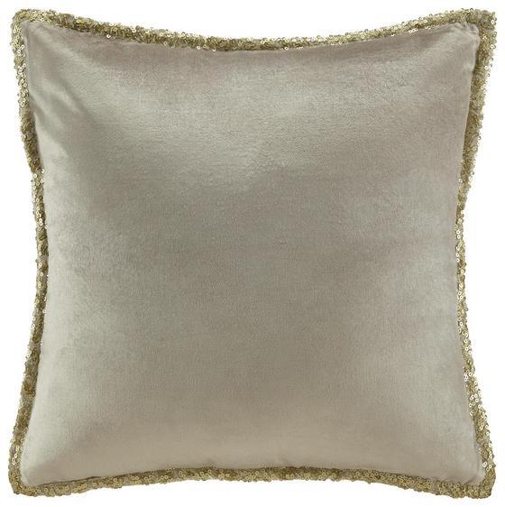Polštář Ozdobný Janet - barvy zlata/béžová, Lifestyle, textil (45/45cm) - Premium Living