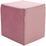 Taburet Betty - ružová, Basics, textil (45/45/45cm)