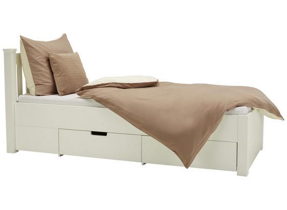 Posteľ Lyon - biela, Romantický / Vidiecky, kompozitné drevo (90/200cm) - Zandiara