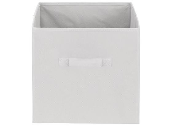 Tárolókosár Juana - Világosszürke, konvencionális, Karton/Textil (31/31/31cm) - Luca Bessoni