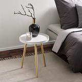 Odkladací Stolík Dana - biela/farby pínie, Moderný, drevený materiál/drevo (40/50/40cm) - Modern Living
