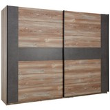 Skříň S Posuvnými Dveřmi Chanton - barvy borovice/šedá, Lifestyle, kov/kompozitní dřevo (221/210/62cm) - Based