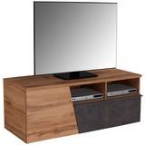 TV-Board Venedig B: 140 cm Wotan Eiche, Betonoptik - Eichefarben/Dunkelgrau, MODERN, Holzwerkstoff (140/47/40cm)