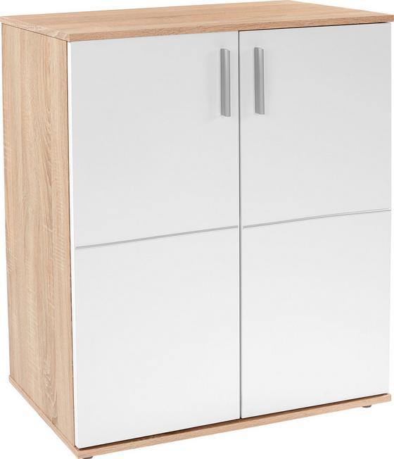 Kommode Ina 01 - Weiß/Sonoma Eiche, MODERN, Holzwerkstoff (88,2/95,1/38,6cm)