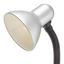 Lampa Na Písací Stôl Leona Max. 40 Watt Cenový Trhák - strieborná, kov/plast (12,5/34/18,5cm) - Based