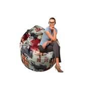 Sitzsack Jamie Uk - Hellrot/Dunkelblau, MODERN, Textil (110/75/75cm)