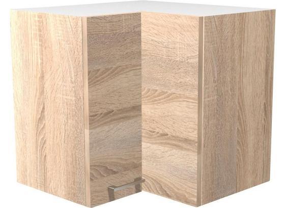 Rohová Horná Skrinka Samoa  He 60 - farby dubu/biela, Konvenčný, kompozitné drevo (60/54/32cm)