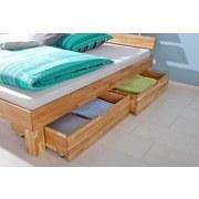 Bettkastenset Julia 2-teilig Eiche Massiv - Eichefarben/Naturfarben, Design, Holz (81/90/21cm)
