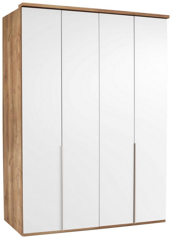 Kleiderschrank New York A - Eichefarben/Weiß, KONVENTIONELL, Holz/Holzwerkstoff (180/236/58cm) - Ombra