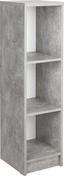 Regál 4-you New Yur05 - bílá/šedá, Moderní, dřevěný materiál (30/111,5/34,6cm)