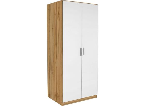 ŠATNÁ SKRIŇA Celle, 2-türig - farby dubu/biela, Moderný, kompozitné drevo (91/197/54cm)