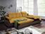 Wohnlandschaft in L-Form Multi 260x184 cm - Chromfarben/Gelb, MODERN, Textil (260/184cm)