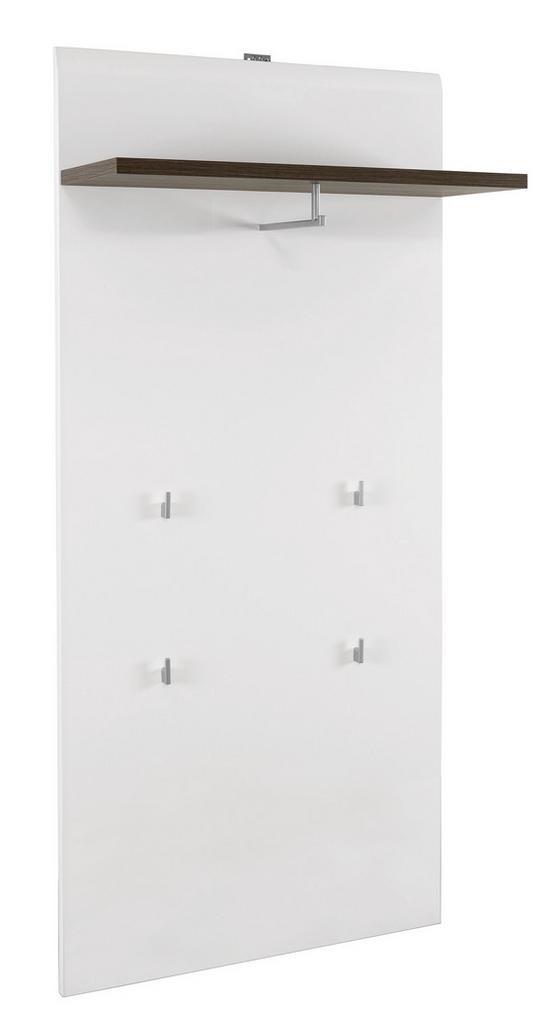 Előszoba Panel Avensis - barna/fehér, modern, faanyagok (70/161,6/28,9cm)