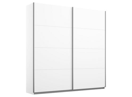Schwebetürenschrank 181cm Belluno, Weiß Dekor - Weiß, MODERN, Holzwerkstoff (181/210/62cm)